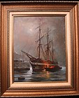 "CHRISTOPHER M. SCALA ""Sailboat in Port"""